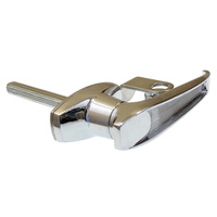 FLA2011D Pad-lockable chrome L-handle rear fixing