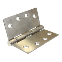 Butt hinge 100mm X 100mm open X 2.5mm thick stainless steel GH10025FPSS