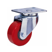 Heavy duty castor wheel red AS-GU-A3-1