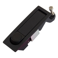Lever latch pop lock black C2-32-15-3
