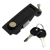 Lever latch pop lock black EK333 C2-32-15-3