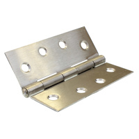 Butt hinge 100mm height X 75mm open X 1.6mm thick stainless steel GH10016FPSS