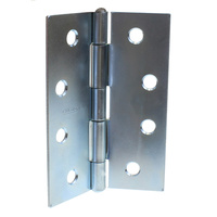 Butt hinge 100mm height x 75mm open x 1.6mm thick zinc plate GH10016FPZP
