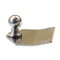 Gas strut bracket. Flat angled triangle. 13mm ball stainless steel.