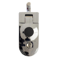 Chrome pop lock black button w/dustcover NS718-A7303CH51
