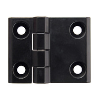 Black 4 hole hinge M6 63mm x 50mm
