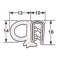 Side bulb door seal 055
