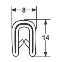 Pinchweld U channel edge protector 056
