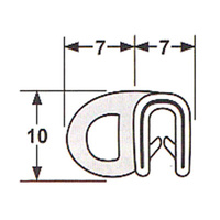 Side bulb door seal 058