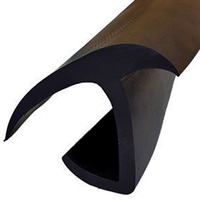 RES25JEPDM  25 'J'  Truck door seal - black EPDM rubber single leg