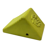REWHEELCHOCKIRS Yellow wheel chock lion head