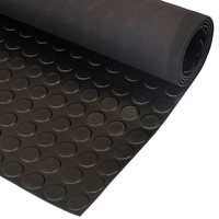 3mm black coin mat rubber sheet by the metre