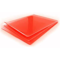 Red silicone sheet 6mm x 1200mm wide